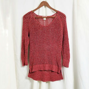 Lucky Brand Sweaters - Lucky Brand Size Medium Knit Sweater Top Brick Red